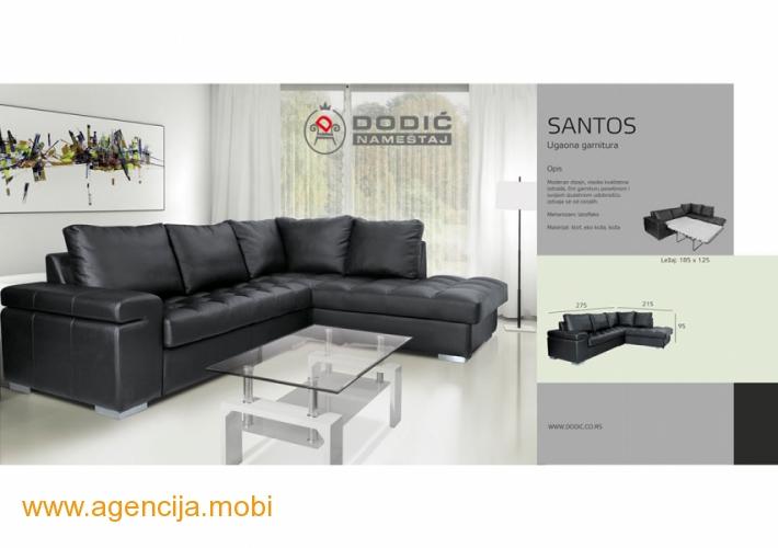 Santos ugaona garnitura